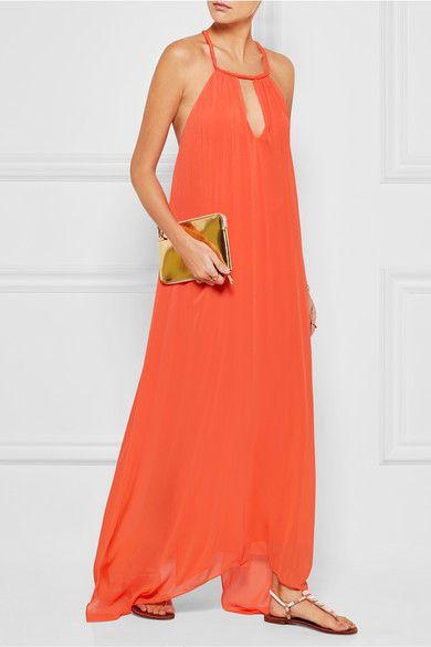 Orange crepon Slips on 100% polyester; lining: 94% polyester, 6% elastane Dry clean Designer color: Tangerine #stylingmrsoliver