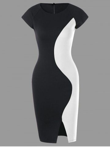 GET $50 NOW | Join RoseGal: Get YOUR $50 NOW!https://www.rosegal.com/bodycon-dresses/two-tone-cap-sleeve-tight-dress-1490852.html?seid=8592445rg1490852