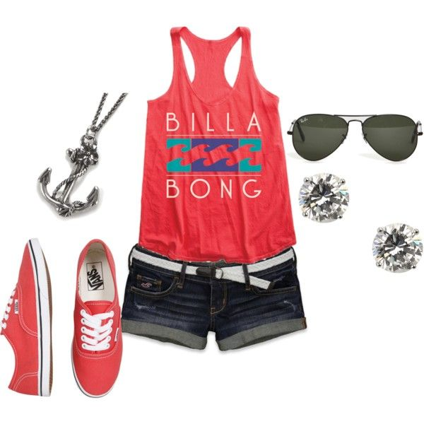 Summer casual , no red vans for me.: Summer Casual, Summer Outfiti, Summer Looks, Dreams Closet, Billa Bongs, Cute Outfits, Cute Summer Outfits, Summer Clothing, My Style