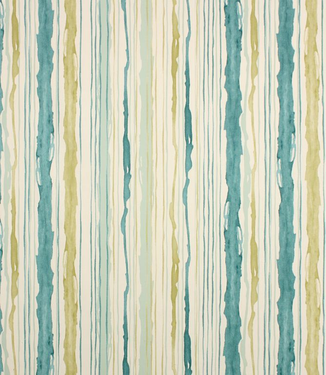 Wavy striped fabric made from 100% cotton. Coordinates with Bloomsbury floral fabric. This fabric is suitable for blinds, curtains and cushions. Our online store and shops in Burford, Oxfordshire or Cheltenham, Gloucestershire have huge stocks of discount curtain and upholstery fabrics.