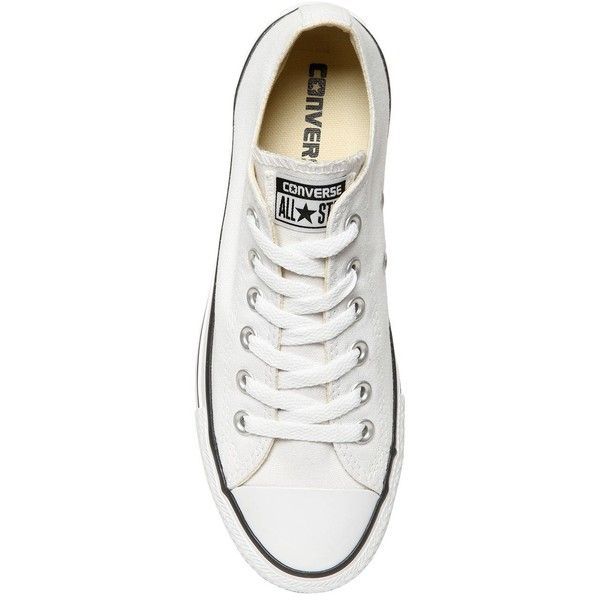 Converse Women 40mm All Star Ox Cotton Canvas Sneakers ($155) ❤ liked on Polyvore featuring shoes, sneakers, cotton shoes, eyelets shoes, grommet shoes, star shoes and logo shoes