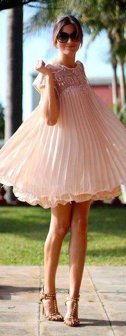 ♡ Pleated swing dress ♡