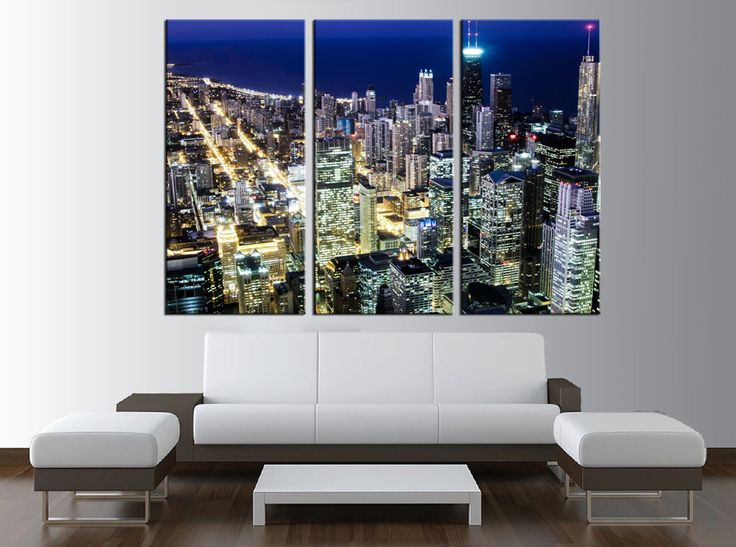Chicago Skyline Wall Art 16 best apartment images on pinterest | chicago skyline, canvas