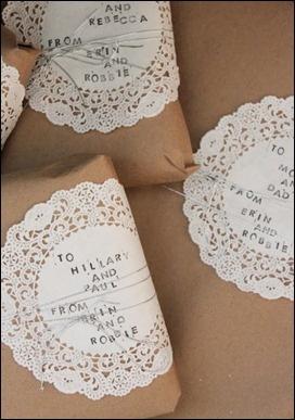 Julegave innpakning