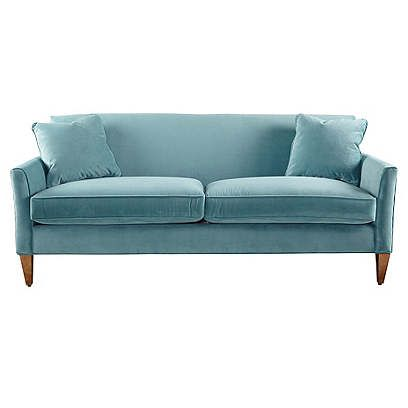 framed in sturdy kilndried hardwood with cushions this chic sofa draws you in with its luxe velvet upholstery and