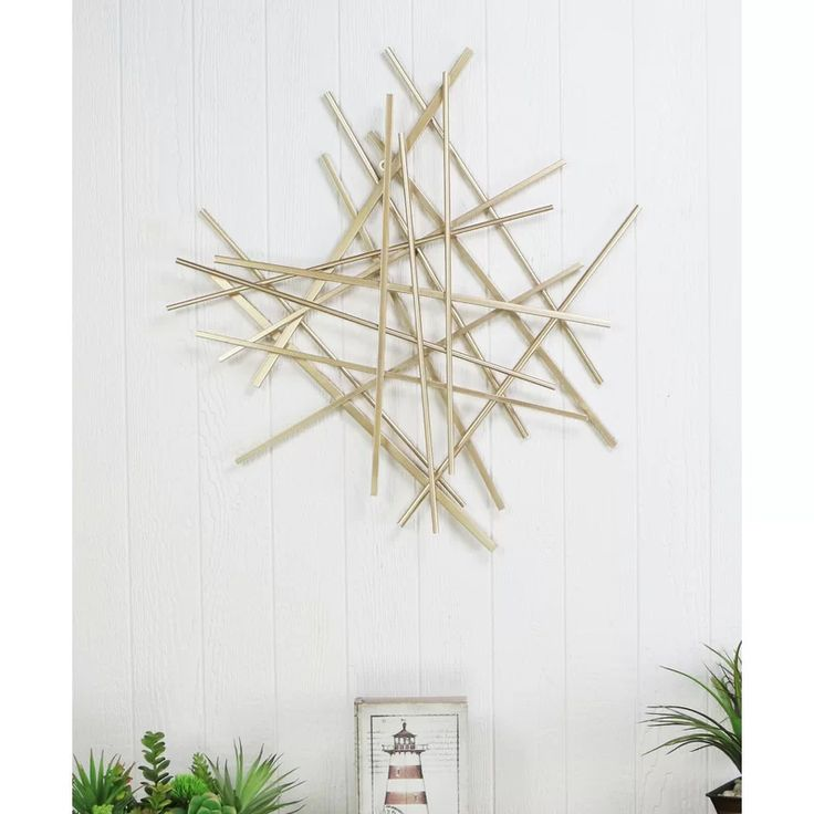 Abstract Bar And Panel Wall Décor In 2021 Starburst Wall Decor Entryway Wall Decor Abstract Wall Decor