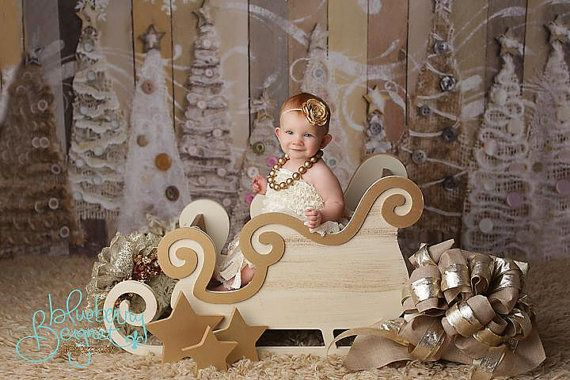 LARGE VERSION Sleigh Photo Prop Christmas by MrAndMrsAndCo on Etsy