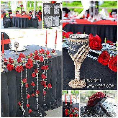 Studio Freya: свадебное оформление зала тканями, цветами: Glam Rock Wedding