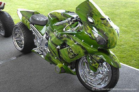 Kawasaki Ninja ZX-10R Sportbike/Dragster by Eye Candy Cycle Designs
