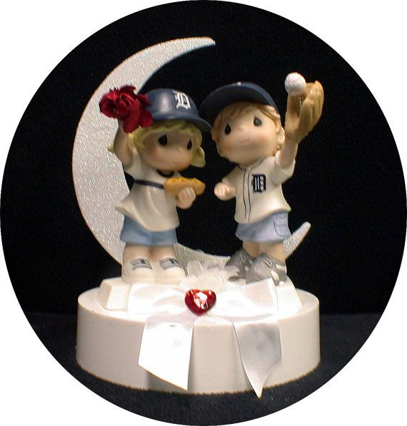 ohio state michigan wedding cake toppers michigan detroit tigers baseball fans wedding cake topper 17977