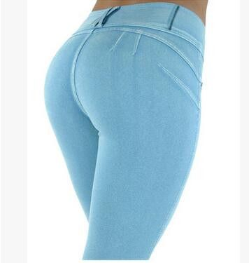 Fitness Zipper Push Up Jeggings