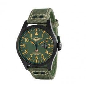Aeronáutica Militare reloj deportivo con doble remache de acero en correa.