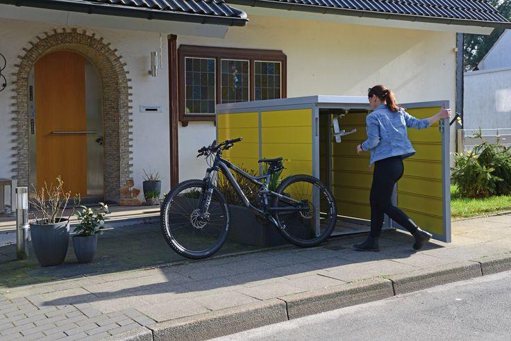 die besten 25 fahrradbox ideen nur auf pinterest fahrradgarage handwerks schuppen und fahrrad 24. Black Bedroom Furniture Sets. Home Design Ideas