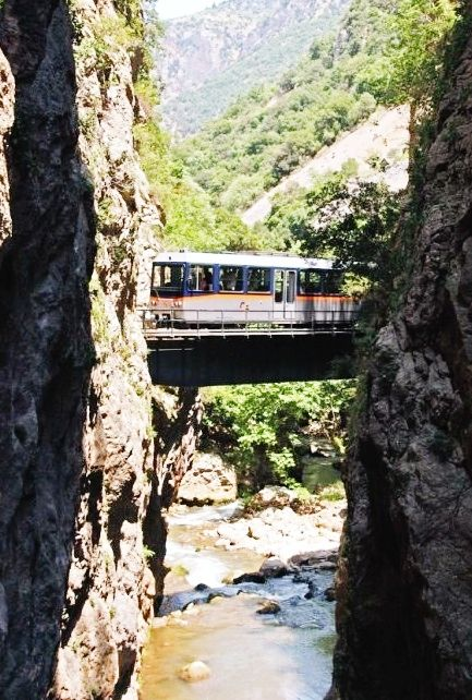 Odontotos rack railway Diakopto –Kalavrita, under the shadow of Helmos mountain / Greece