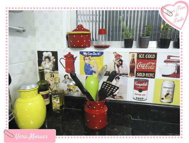 minha cozinha com adesivos azulejos