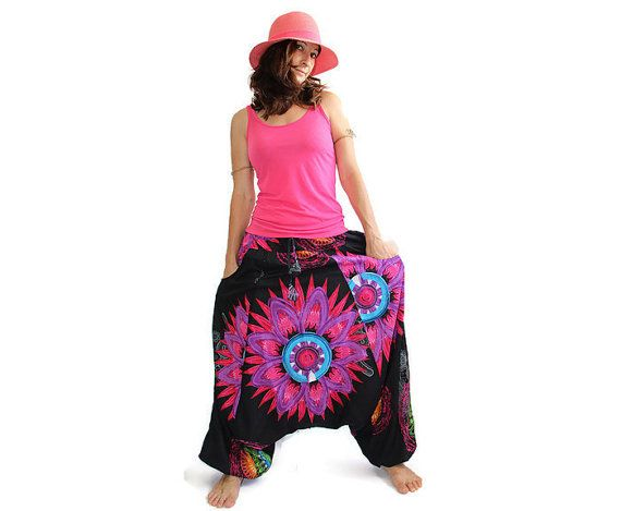 Aladdin pants known as Harem or Afghani trousers are very comfortable.  ☆  100%…