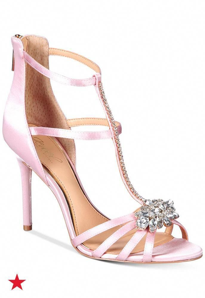 6dd2efe9e9 Step this way for sparkly and elegant prom night shoes by JEWEL by Badgley  Mischka.