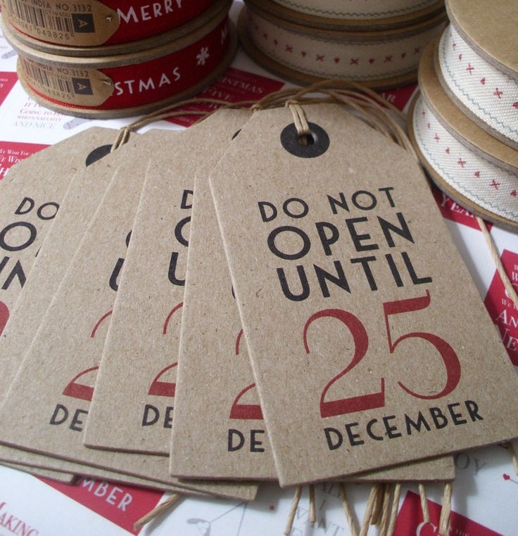 Like this idea for xmas pressie labels or wedding place settings