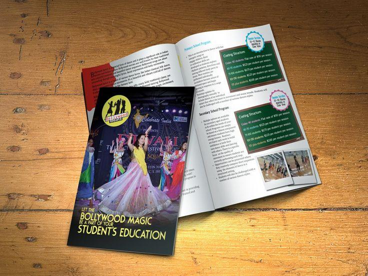Brochure design for a dance company