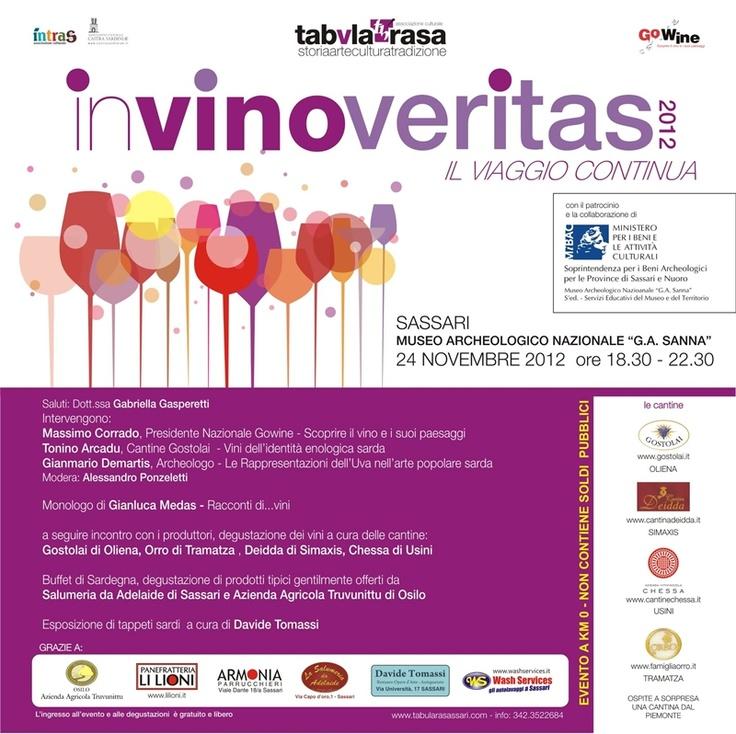 In #Vino Veritas 2012, incontro sui piaceri del vino, a #Sassari