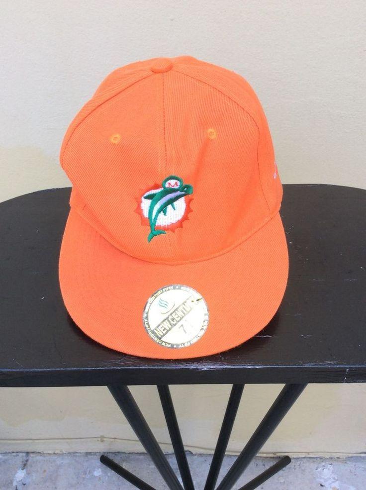 New Miami Dolphins Football Orange Hat 7 1/4 New Century #NewCentury #MiamiDolphins