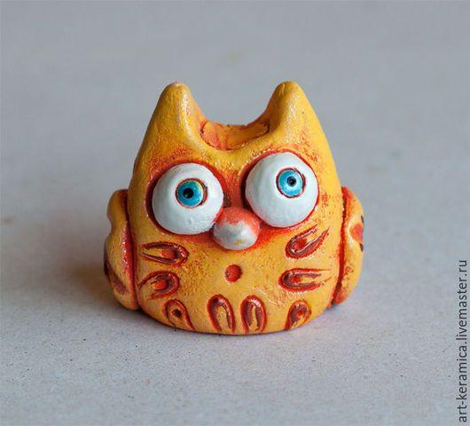 Миниатюрные модели ручной работы. Ярмарка Мастеров - ручная работа. Купить Сова керамическая Лиза. Керамика, фигурки животных. Handmade.