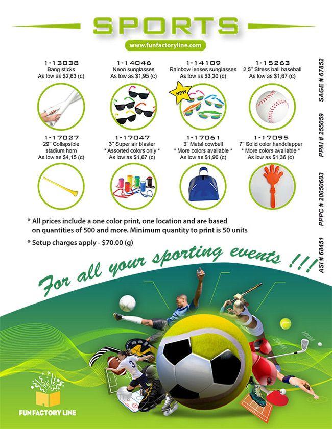 Fun Factory-http://creatchman.promocan.com/fr/linename-search?lineid=24645 Produits pour tous vos événements sportifs