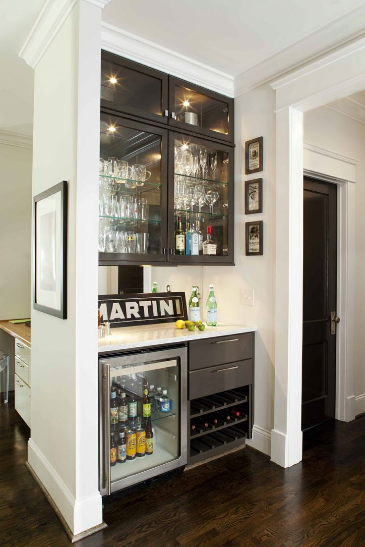 Unique Home Bar Cabinet with Refrigerator