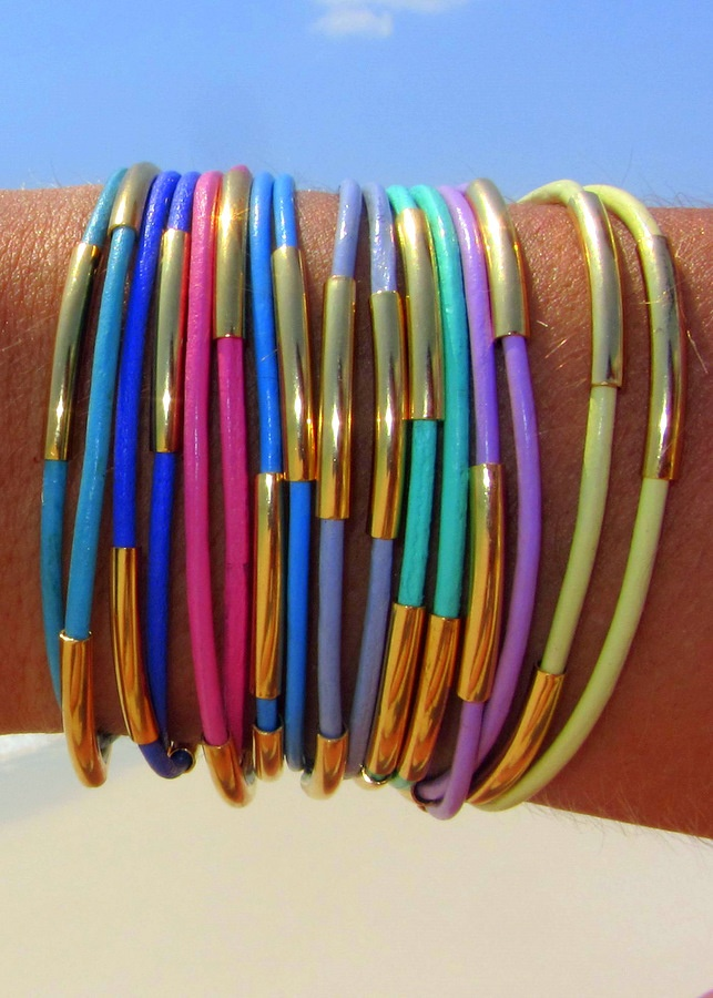 Sold out. Wonder if I could figure out a way to make these? Pipe dream wrap bracelets by k.slademade