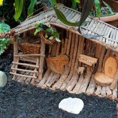 fairy house made of sticks - sweet and fun for kids and grownups looks #cozy #fallessentials