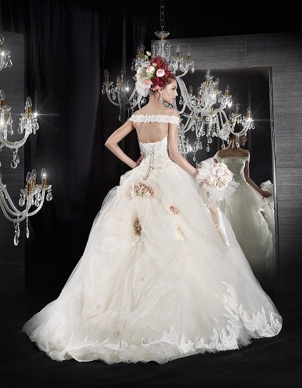 Wedding ball gown and photo courtesy of Delsa