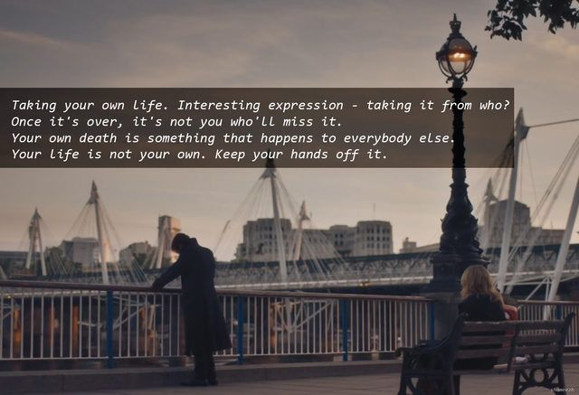 Sherlock Season 4 Ep. 2 --I loved this line <3 but I just realized who he said it to!!