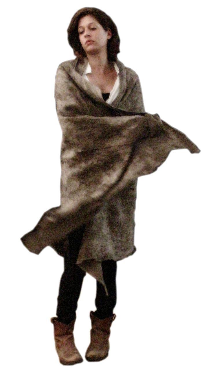 SLOWLAB FIRENZE FELT. Nomad blanket coat. Nuno felt merino wool on cotton.