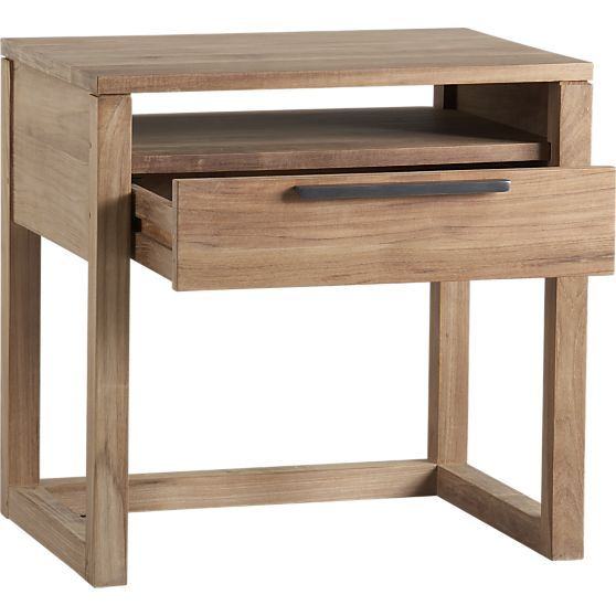 Linea 1-Drawer Nightstand in Nightstands | Crate and Barrel
