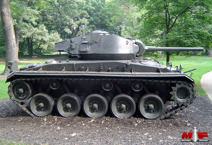 Cadillac M24 Chaffee, US light tank manufactured 1943-5. Examples remained in service throughout the world. The last recorded combat use was 1971 India/Pakistan conflict.