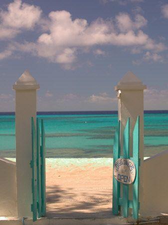 Front Street Gate on Grand Turk Island, Turks and Caicos, Caribbean Stampa fotografica di Walter Bibikow su AllPosters.it