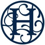 circle flourish monogram h