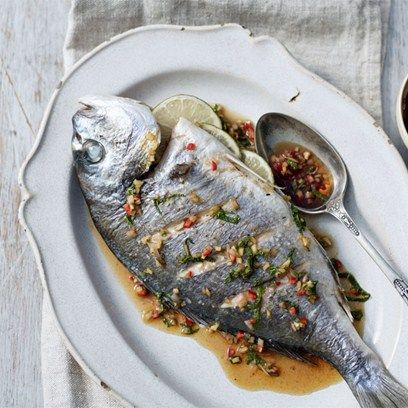 Grilled Bream with Ginger