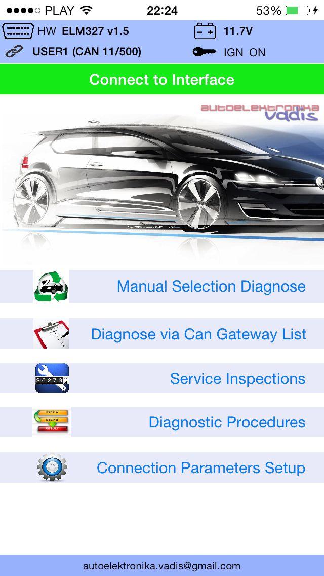 Wifi tool to diagnostic car VAG Group via obd2