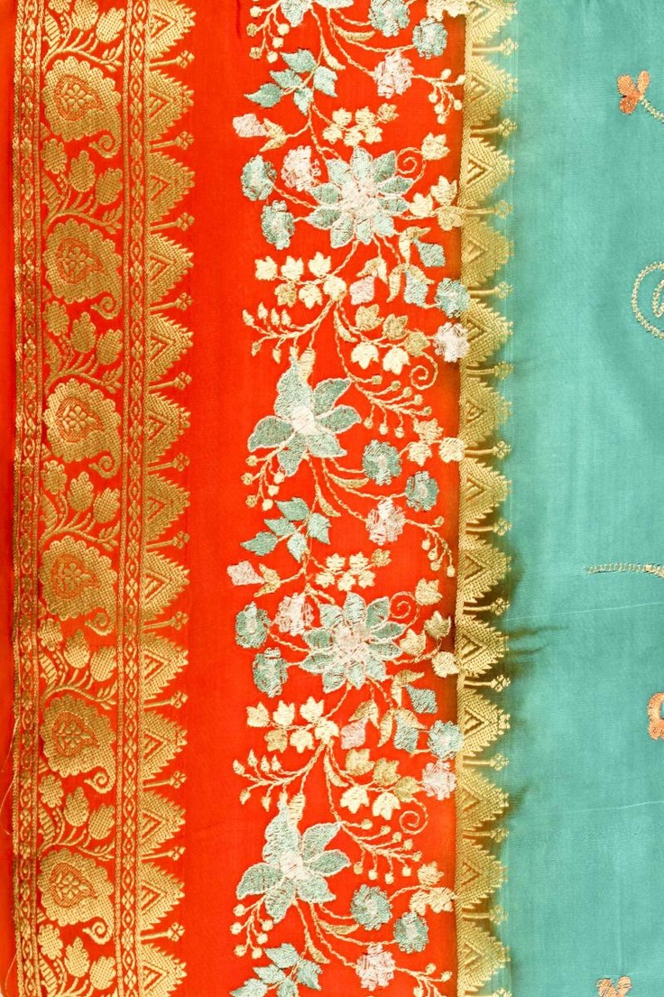 gorgeous silk - orange and turquoise I'm feeling very inspired by orange and turquoise :)