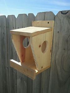 Robin Nesting Box Built from Cedar Cardinal Dove Wren Ledge ...