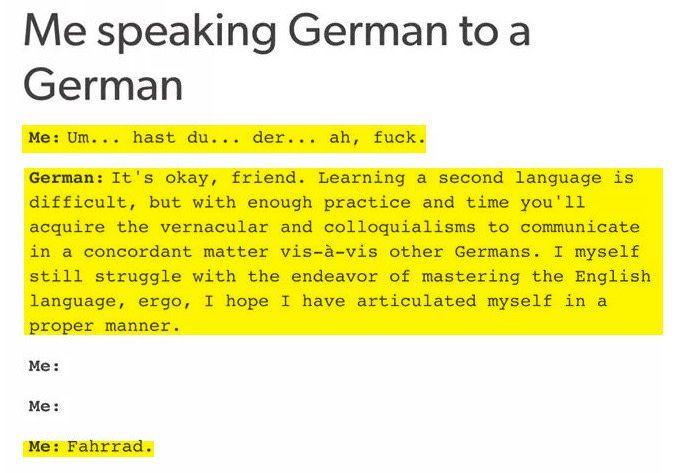 Deutsch zu lernen ist die eine Sache. Es dann aber auch zu sprechen eine ganz andere.