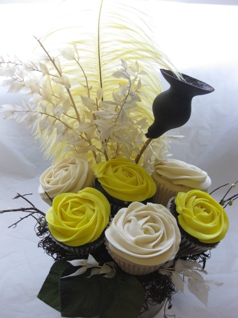 This edible cupcake centerpiece will wow your guests with its design and also serve as a snack.