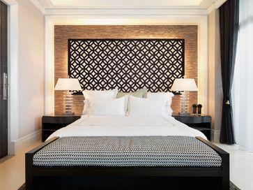 "Redi-Screens headboard: the ""Glastonbury"" design transitional-bedroom"