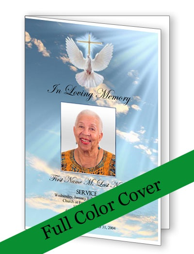 Best Funeral Programs Images On   Program Template