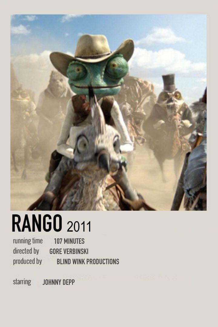 Rango By Cass Movie Posters Minimalist Movie Poster Wall Movie Prints