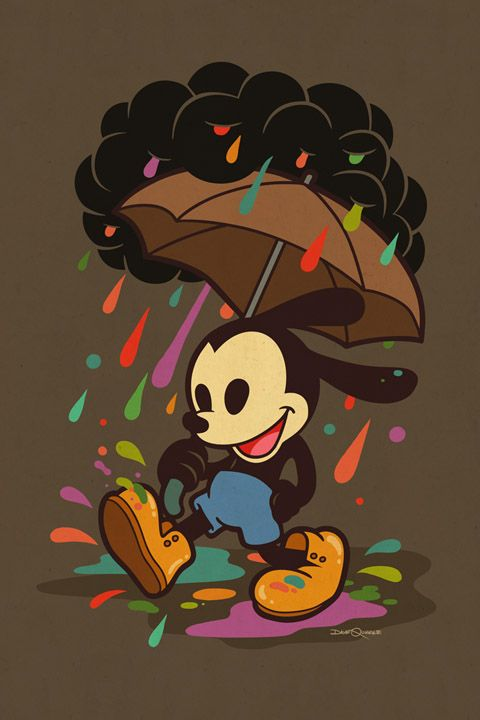 Oswald in the Rain by Dave Quiggle (So many fabulous new pieces at WonderGround Gallery - hit the link to see the rest.)
