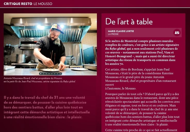 De l'art à la table - La Presse+