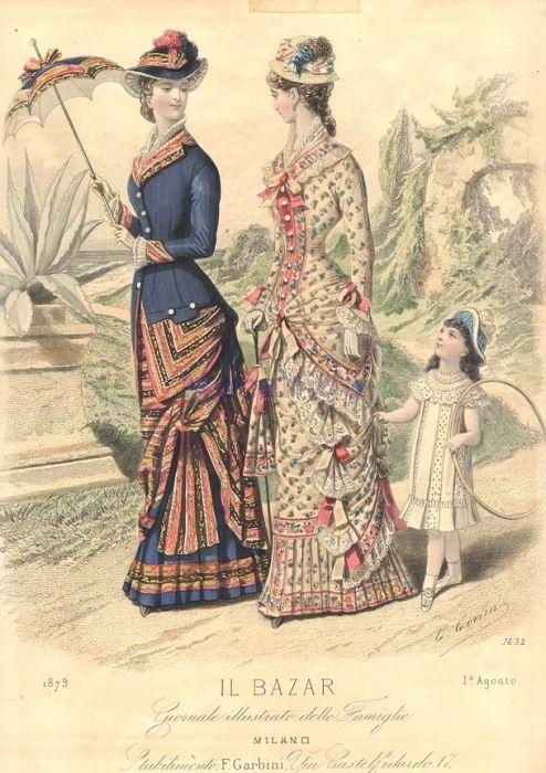 August 1879 Walking or promenade dress
