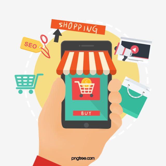 Online Supermarket Online Shopping Internet Clipart Pay Computer Png Transparent Clipart Image And Psd File For Free Download Desain Produk Ilustrasi Poster Ilustrasi